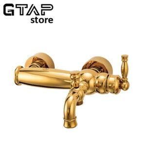 شیر حمام آنتیک طلایی قهرمان